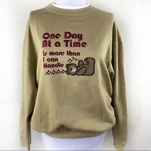 Vintage 'One Day at a Time' Cheek-O Sweatshirt